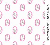 dragon fruit or pitahaya... | Shutterstock .eps vector #255546526