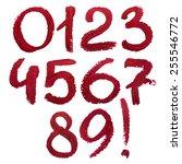 lipstick numbers.   | Shutterstock . vector #255546772