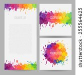 set of colorful banners | Shutterstock .eps vector #255564625