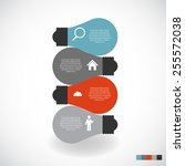 infographic templates for... | Shutterstock .eps vector #255572038