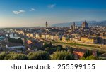 sunset view of florence with... | Shutterstock . vector #255599155