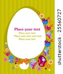 easter greeting card with... | Shutterstock .eps vector #25560727