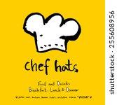 hand drawn restaurant poster  ...   Shutterstock .eps vector #255608956