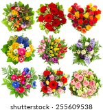 Bouquets Colorful Flowers For Birthday - Fine Art prints