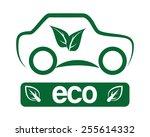 eco car design  vector... | Shutterstock .eps vector #255614332