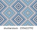 ethnic pattern background in... | Shutterstock .eps vector #255622792