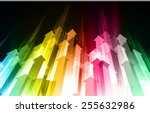 dark colorful light abstract... | Shutterstock .eps vector #255632986