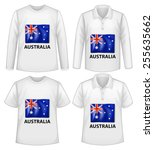 four design shirts with... | Shutterstock .eps vector #255635662