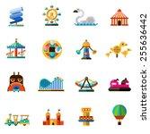 family amusement recreational... | Shutterstock .eps vector #255636442