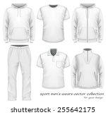 sport men's wear collection.... | Shutterstock .eps vector #255642175
