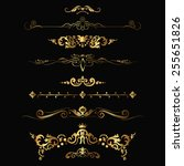 set of design gold elements and ... | Shutterstock .eps vector #255651826