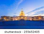 Stock photo capitol building washington dc sunset at us congress usa 255652405