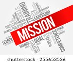 mission word cloud  business...   Shutterstock .eps vector #255653536