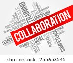 collaboration word cloud ...   Shutterstock .eps vector #255653545