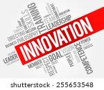 innovation word cloud  business ...   Shutterstock .eps vector #255653548