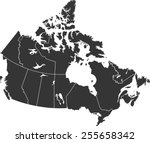 detailed vector map of the... | Shutterstock .eps vector #255658342