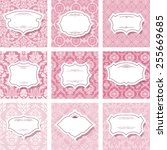 frame set on seamless patterns... | Shutterstock .eps vector #255669685