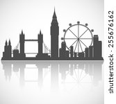 london cityscape. vector city... | Shutterstock .eps vector #255676162