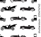 seamless pattern of retro cars. | Shutterstock .eps vector #255676762