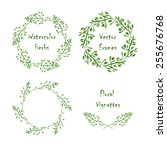 set of round frames and... | Shutterstock .eps vector #255676768