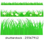 green grass with daisy  pattern ... | Shutterstock .eps vector #25567912