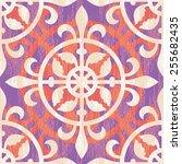 seamless medieval ornament... | Shutterstock .eps vector #255682435