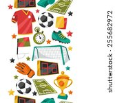 sports seamless pattern with... | Shutterstock .eps vector #255682972