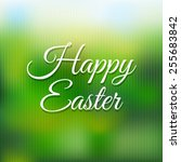 easter poster with blur with... | Shutterstock .eps vector #255683842