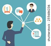 customer relationship... | Shutterstock .eps vector #255686236