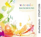 watercolor background color... | Shutterstock .eps vector #255691186