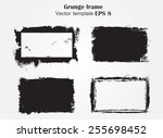 grunge frames set.distress... | Shutterstock .eps vector #255698452