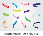 arrows icon set.color arrows... | Shutterstock .eps vector #255707416