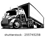 cartoon semi truck. available... | Shutterstock .eps vector #255745258