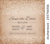 save the date wedding... | Shutterstock .eps vector #255746506