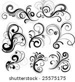 vector floral set | Shutterstock .eps vector #25575175