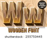 Vector Set Of 3d Luxury Wooden...