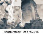 creative double exposure... | Shutterstock . vector #255757846