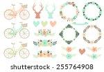 Set Of Floral Wedding Clipart....