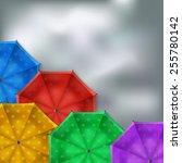 Colored Umbrellas Background  ...