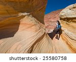 coyote buttes of the vermillion ... | Shutterstock . vector #25580758