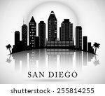 San Diego Skyline. City...