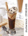 coffee cocktail with whipped... | Shutterstock . vector #255818488
