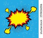 explosion steam bubble pop art... | Shutterstock .eps vector #255826006
