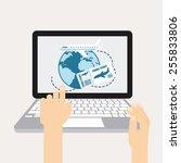 holiday travel design  vector... | Shutterstock .eps vector #255833806
