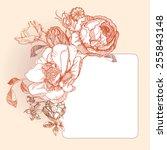 vector vintage postcard. frame...   Shutterstock .eps vector #255843148