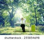 relaxing business working... | Shutterstock . vector #255854698