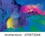 the bright empty tomb of jesus...   Shutterstock .eps vector #255872068