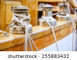 Closeup Of Winches With Lines...