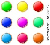 set of buttons in different... | Shutterstock .eps vector #255888142
