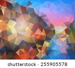 yellow  purple  pink geometric...   Shutterstock .eps vector #255905578